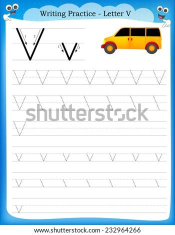 Free handwriting practice worksheets kindergarten