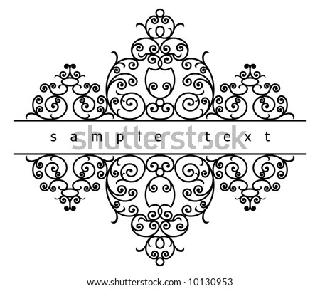 wrought iron elements (vector) - stock vector