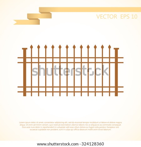 wrought-iron fence. vector illustration