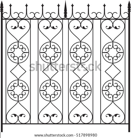 Window grill on garden fence