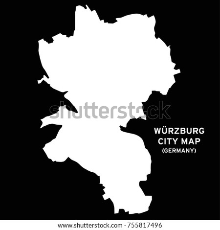 Wurzburg Germany City Map Vector Stock Vector 755817496 Shutterstock