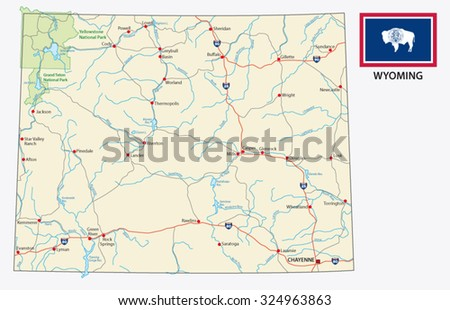 Colorado Road Map Stock Images RoyaltyFree Images Vectors - Road map of wyoming
