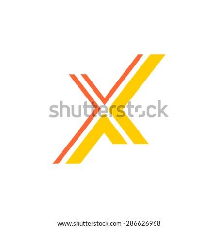 X logo - stock vector
