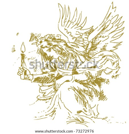 x-mas angel - stock vector
