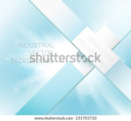 x shape architectural background graphics elements on a blue sky background with light burst eps 10 vector illustration - stock vector