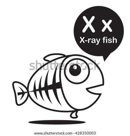 cute xray tetra cartoon fish stock images royaltyfree