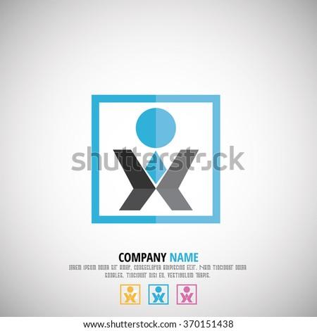 XI Letter Logo - stock vector
