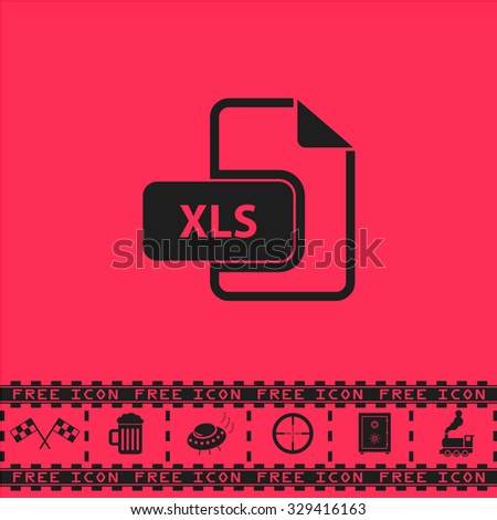 Xls Extension Text File Type Black Stock Vector 329416163 Shutterstock