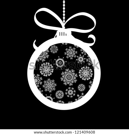 Xmas ball made of white snowflakes.  + EPS8 vector file