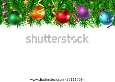Xmas Border With Golden Stars With Gradient Mesh, Vector Illustration - stock vector