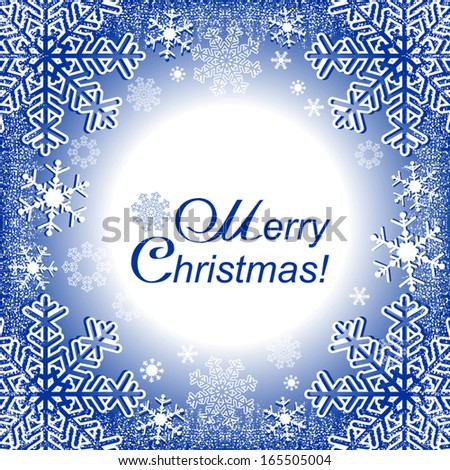 Xmas Frame or winter seasonal Frame, where you can place your information or photo. - stock vector