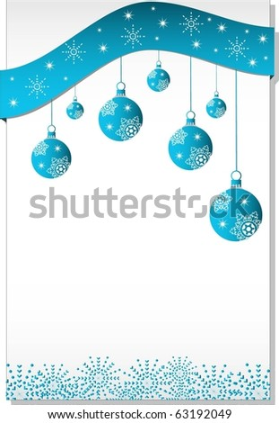 xmas gift page or card - stock vector