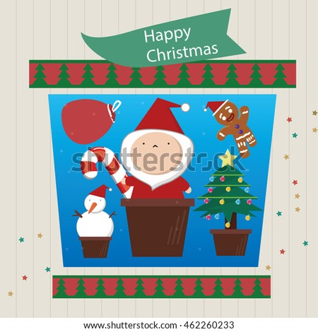Xmas greeting cardfunny merry christmas card stock vector 462260233 xmas greeting cardfunny merry christmas card illustration in santa claus snowmen christmas m4hsunfo Image collections