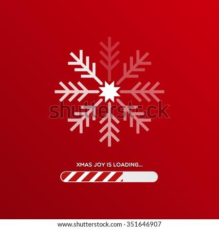 xmas joy is loading christmas background with snowflake and loading bar
