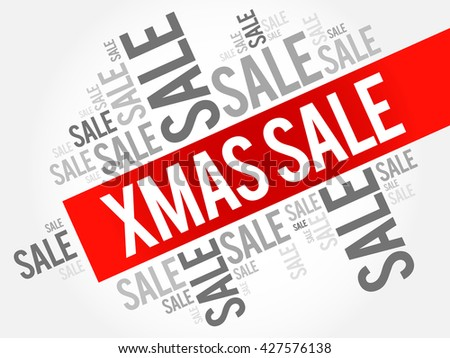 XMAS SALE words cloud, business concept background