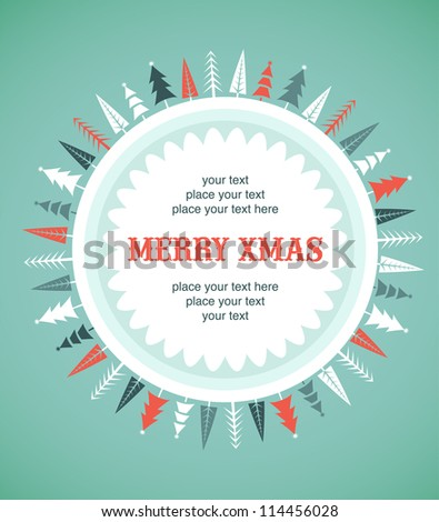 Xmas vector background - stock vector