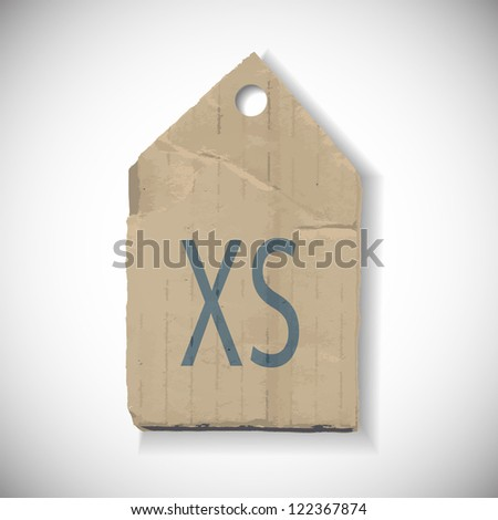 XS Size label isolated on white - stock vector