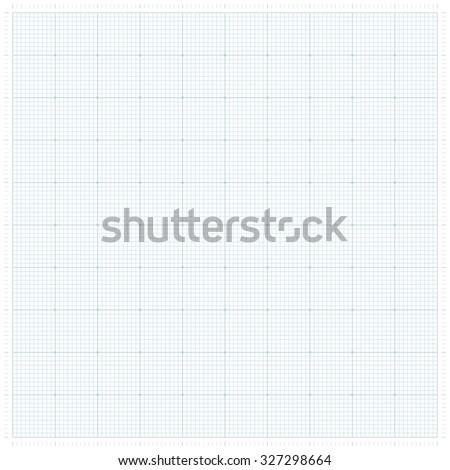 XXL millimeter paper, graph paper or plotting paper. - stock vector