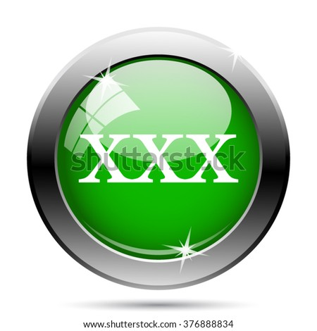 xxx icon. Internet button on white background. EPS10 vector.