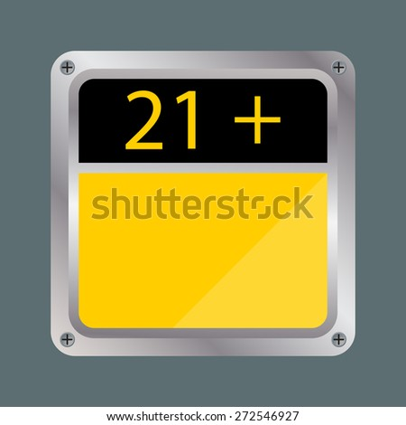 XXX 21 PLUS SIGN VECTOR