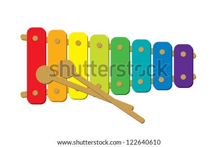 Xylophone - stock vector