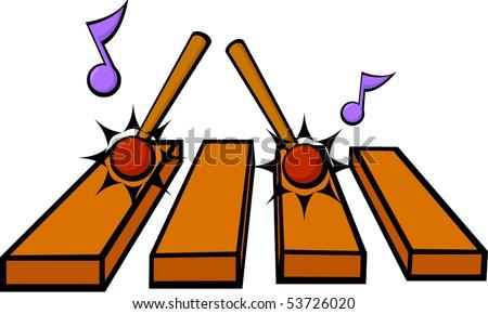 xylophone vibraphone or marimba musical instrument - stock vector