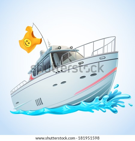 Yacht - stock vector