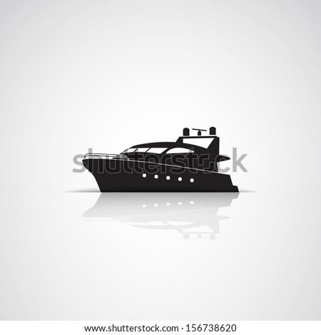 yacht boats icon - stock vector