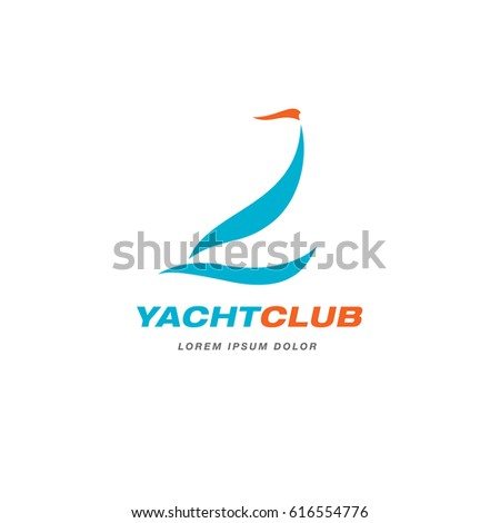Yacht club logo template design stock vector 616554776 shutterstock yacht club logo template design toneelgroepblik Image collections