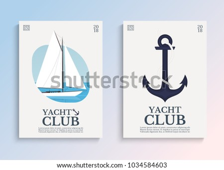 Yacht club sailboat open sea template stock vector 1034584603 yacht club sailboat in the open sea template for covers card or poster toneelgroepblik Image collections