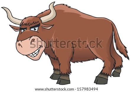 yak cartoon - stock vector