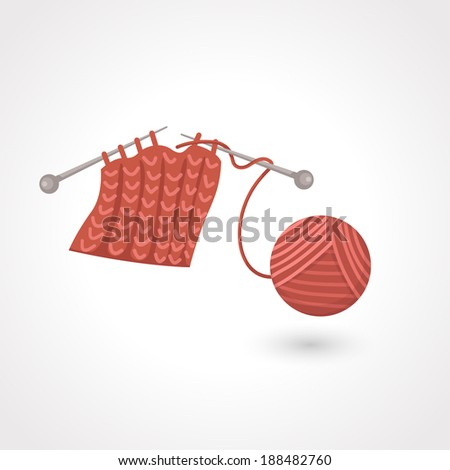 yarn ball vector - stock vector