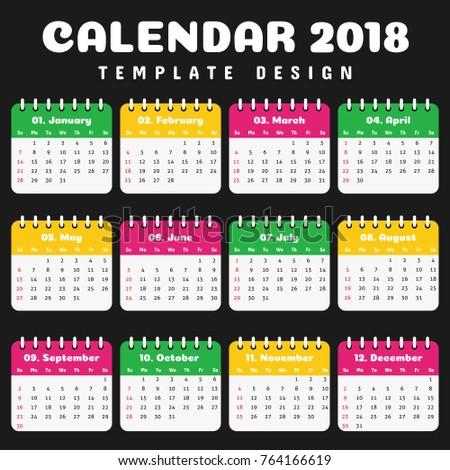 office calendar template 2018