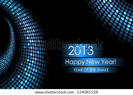 Year of the water snake - vector background - stock vector