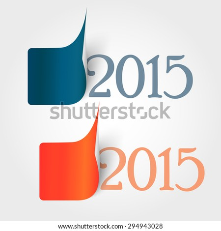 Year 2015 sticker - stock vector