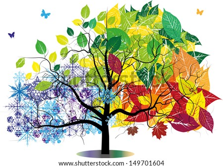 year tree - stock vector