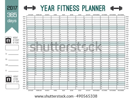 Weekly Diet Planner Vector Printable Page Stock Vector