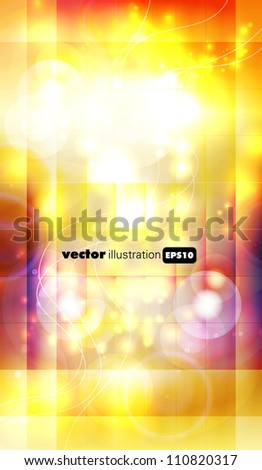 Yellow abstract background - vector illustration