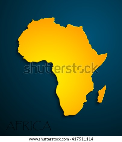 yellow African continent. Image Africa Icon Vector. Picture.  - stock vector