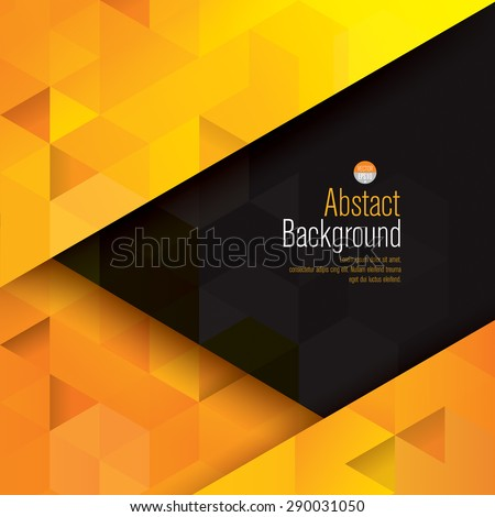 Yellow and black abstract background vector. Can be used in cover design, book design, website background, CD cover, advertising. - stock vector