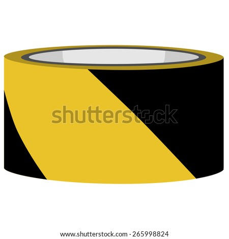 Yellow and black danger tape vector, caution tape, police tape - stock vector
