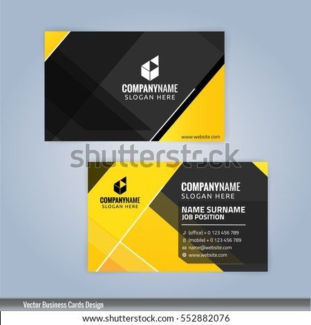 Yellow black modern business card template stock vector 552882076 yellow and black modern business card template illustration vector 10 colourmoves