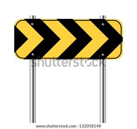 Yellow and black traffic sign