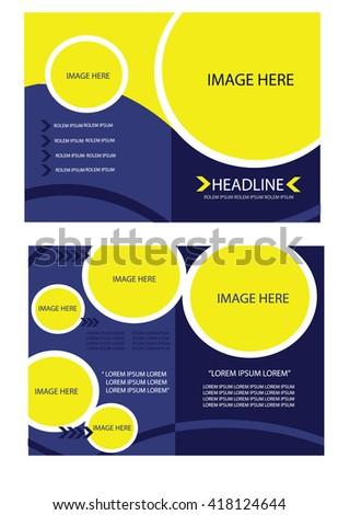 Blue Yellow Brochure Template Flyer Design Stock Vector 332366879 ...