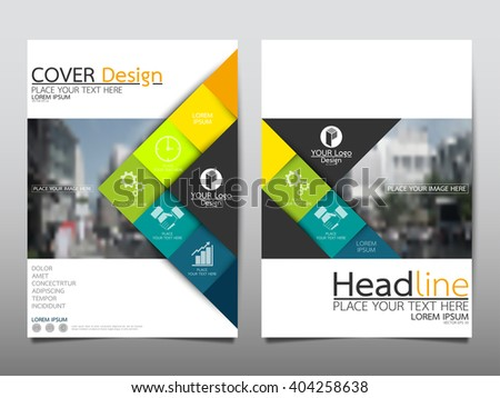 Annual Report Flyer Presentation Brochure Front Stock Vector