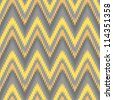 Yellow and grey seamless chevron background pattern - stock vector