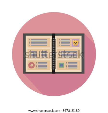 yellow pink daily journal planner icon stock vector royalty free