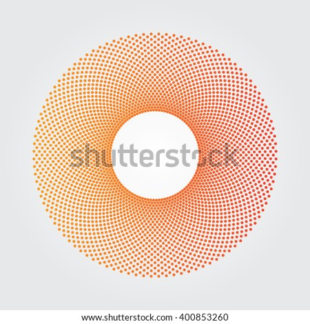 Yellow and red dot donut design