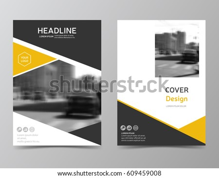 Yellow Annual Report Cover Modern Brochure Stock Vector 609459008