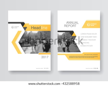 Yellow annual report flyer Brochure leaflet, the presentation cover, magazine advertising. cover with an abstract background. vector template layout of A4 format